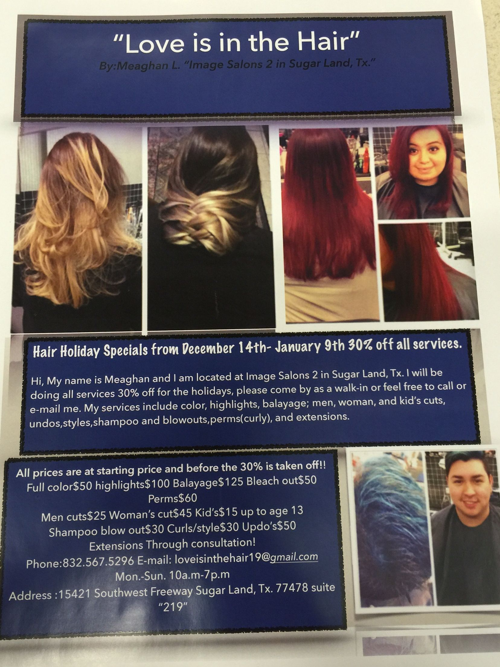 Holiday Special Love Is In The Hair Salon Suite Pinterest Salons