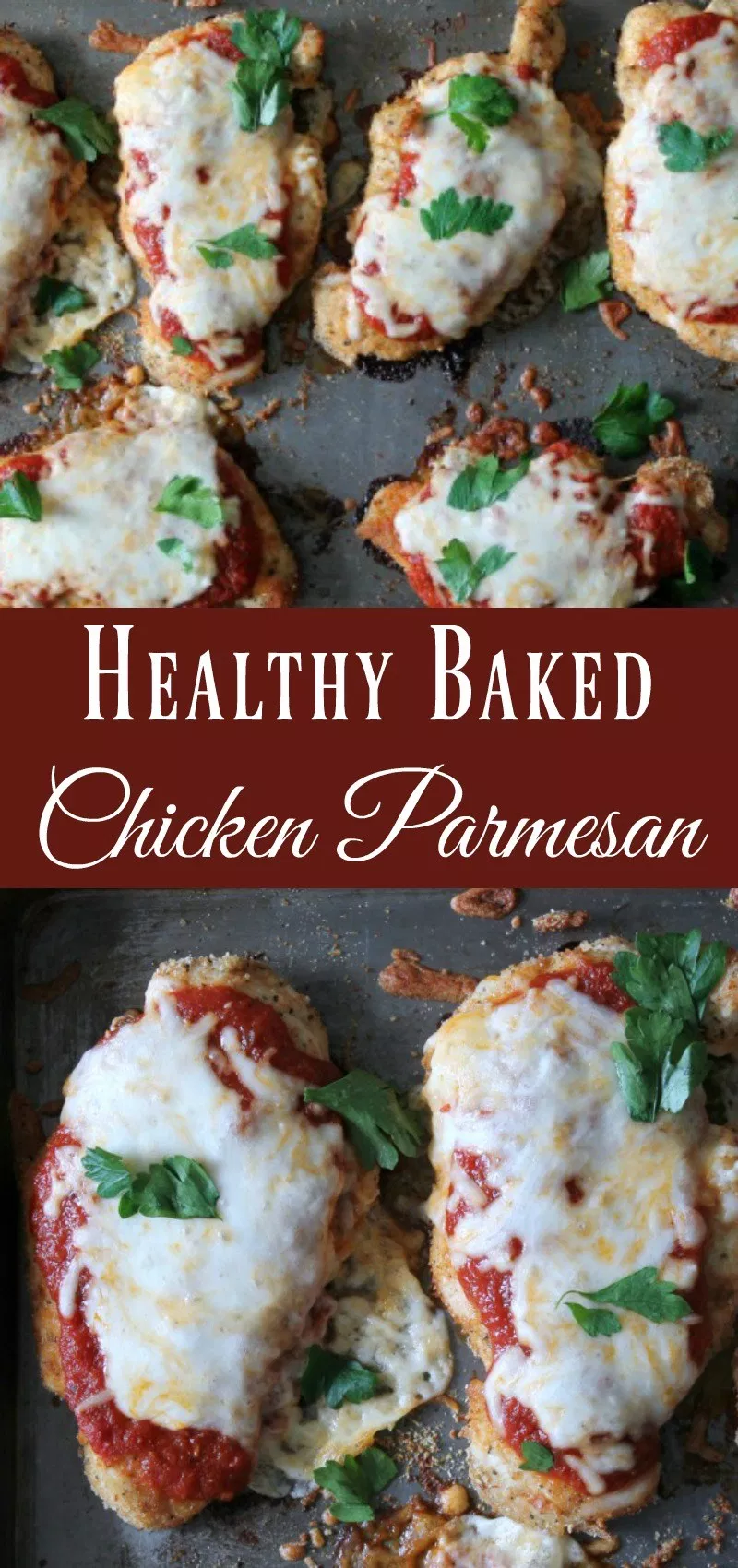 Baked Chicken Parmesan {With Video!} - Organize Yourself Skinny