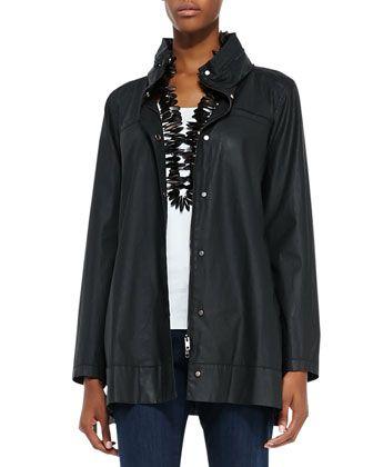 Eileen Fisher A-Line Hooded Jacket, Organic Cotton Slim Tank & Organic Soft Stretch Skinny Jeans - Neiman Marcus