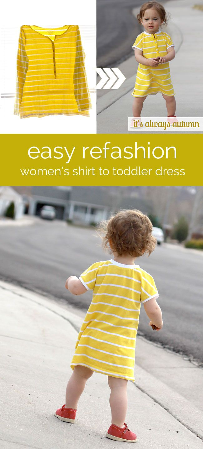 Refashion dress tutorials for babies
