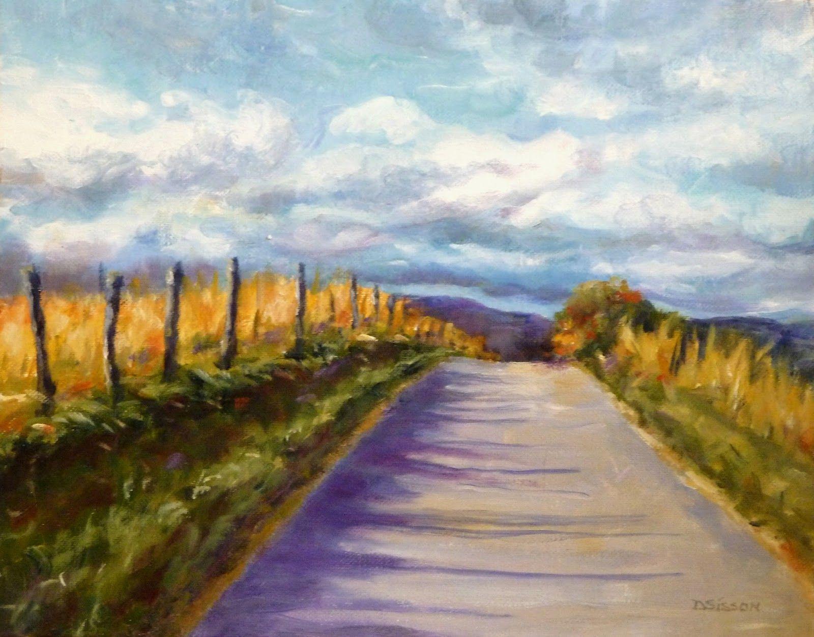 farm field painting | Oil on canvas, 11