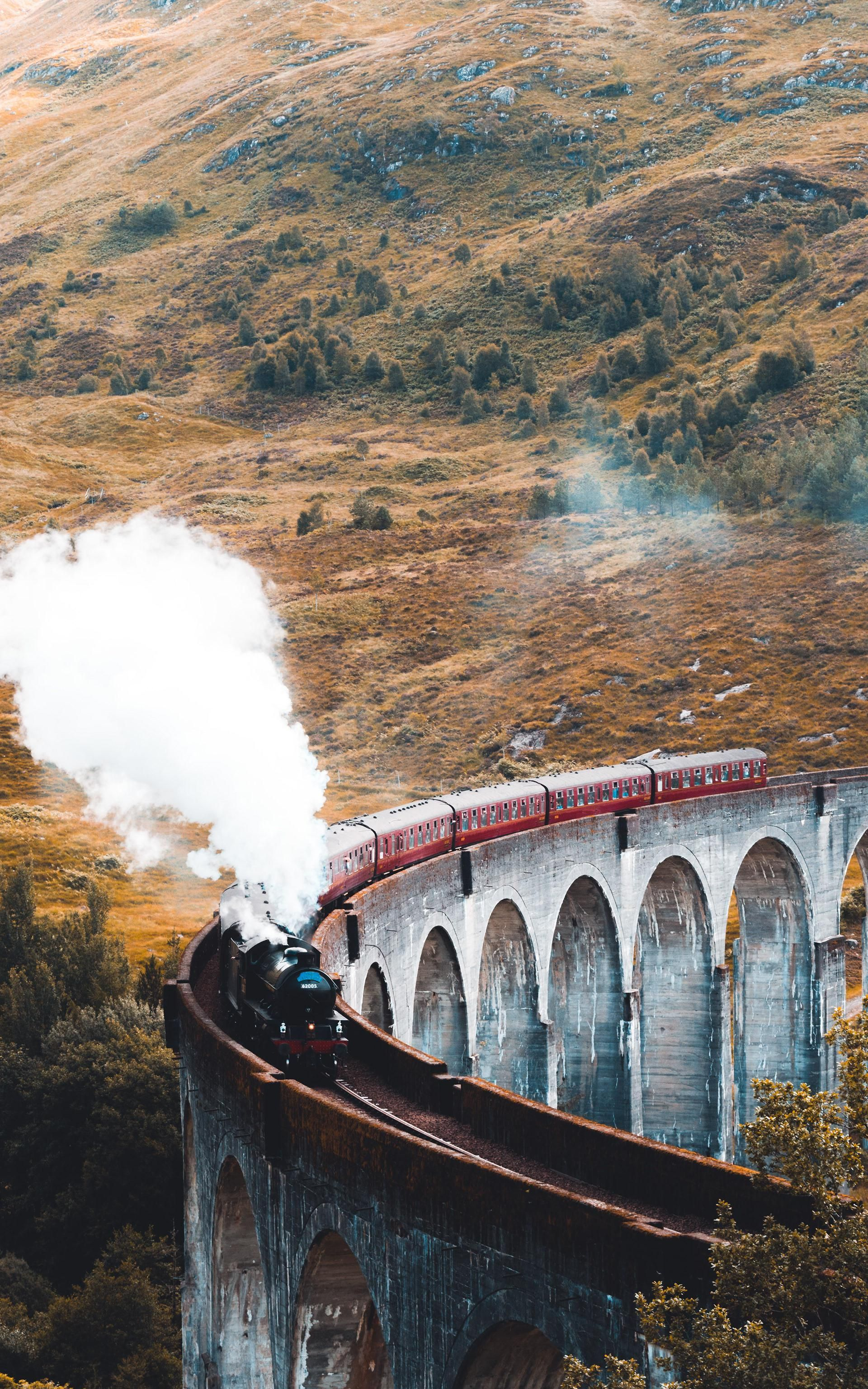 ITAP of the Hogwarts Express in Scotland