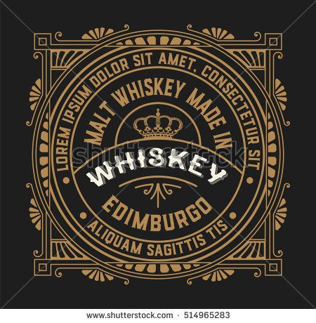 Old Label Design For Whiskey And Wine Label Restaurant Banner