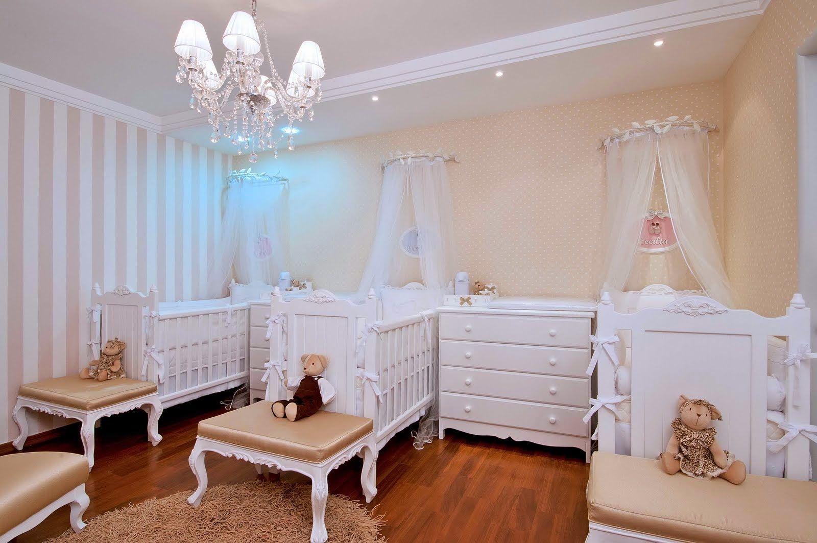 Quartos Para Tres Bebes Pequenos Pesquisa Google Casinha  ~ Quarto Casal Pequeno Com Quarto De Nenem Menina