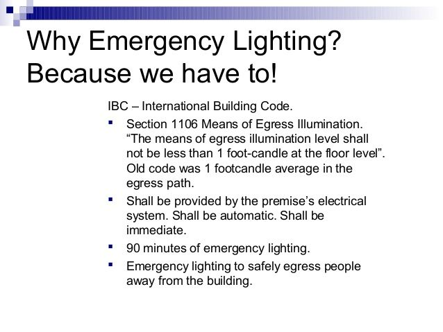 Image Result For Ibc Emergency Lighting Requirements