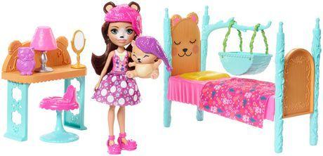 Enchantimals Dreamy Bedroom Playset + Bren Bear Doll & Snore Figure #bearbedpillowdolls