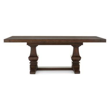 Farmhouse 84 Wood Extendable Rectangular Dining Table Found At Jcpenney 1k Dining Table Dining Extendable Dining Table