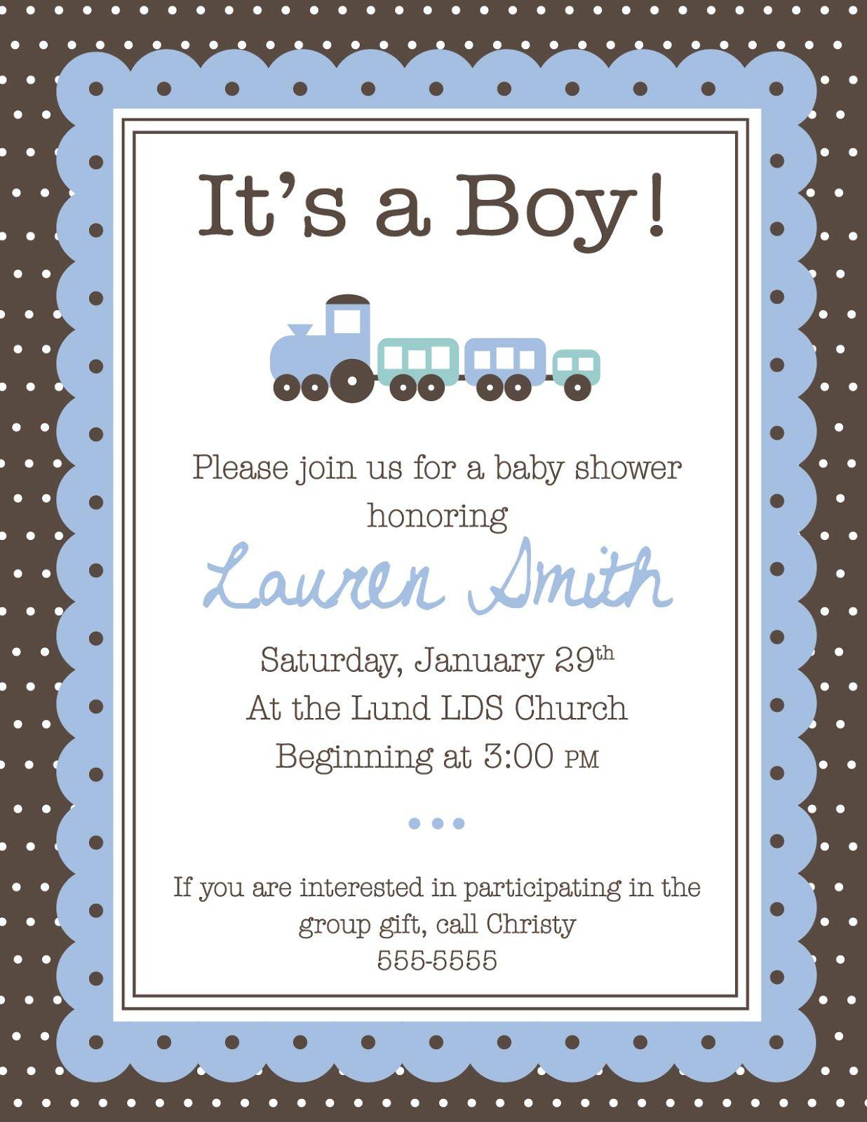 Baby boy shower invitation Baby Shower Invitation Card