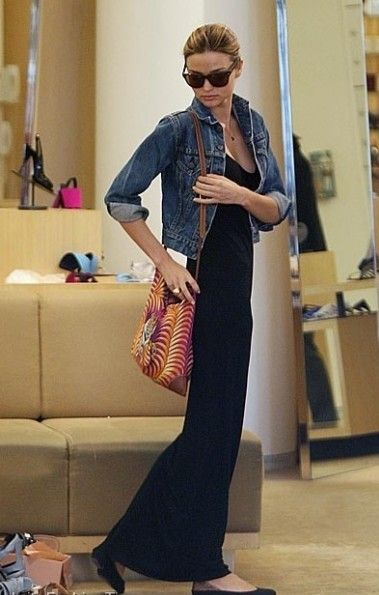 maxi skirt / denim