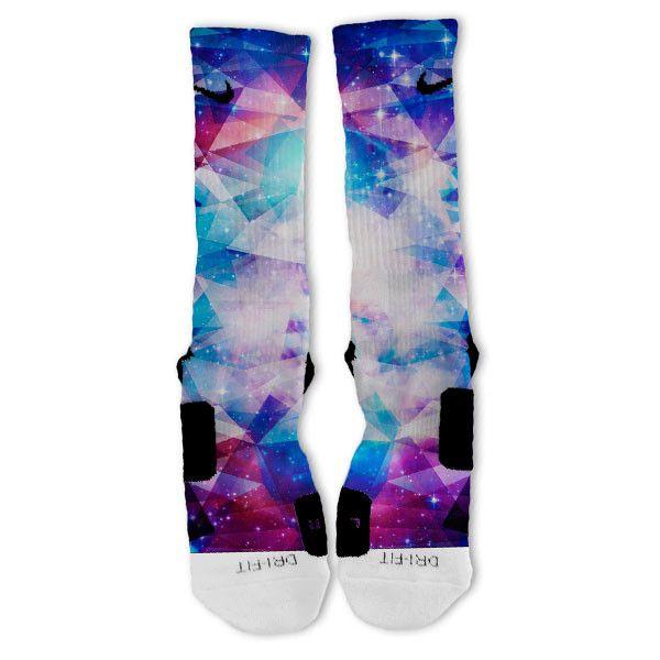 Galaxy Prism Custom Nike Elite Socks   □ FASHION   SOCKS