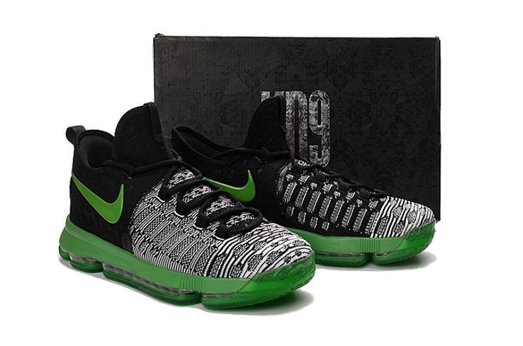 2018 Fashion KD 9 ID Elite Flyknit Grey Black Poison Green. Find this Pin  and more on Newest Basketball Shoes ... a6307b70e