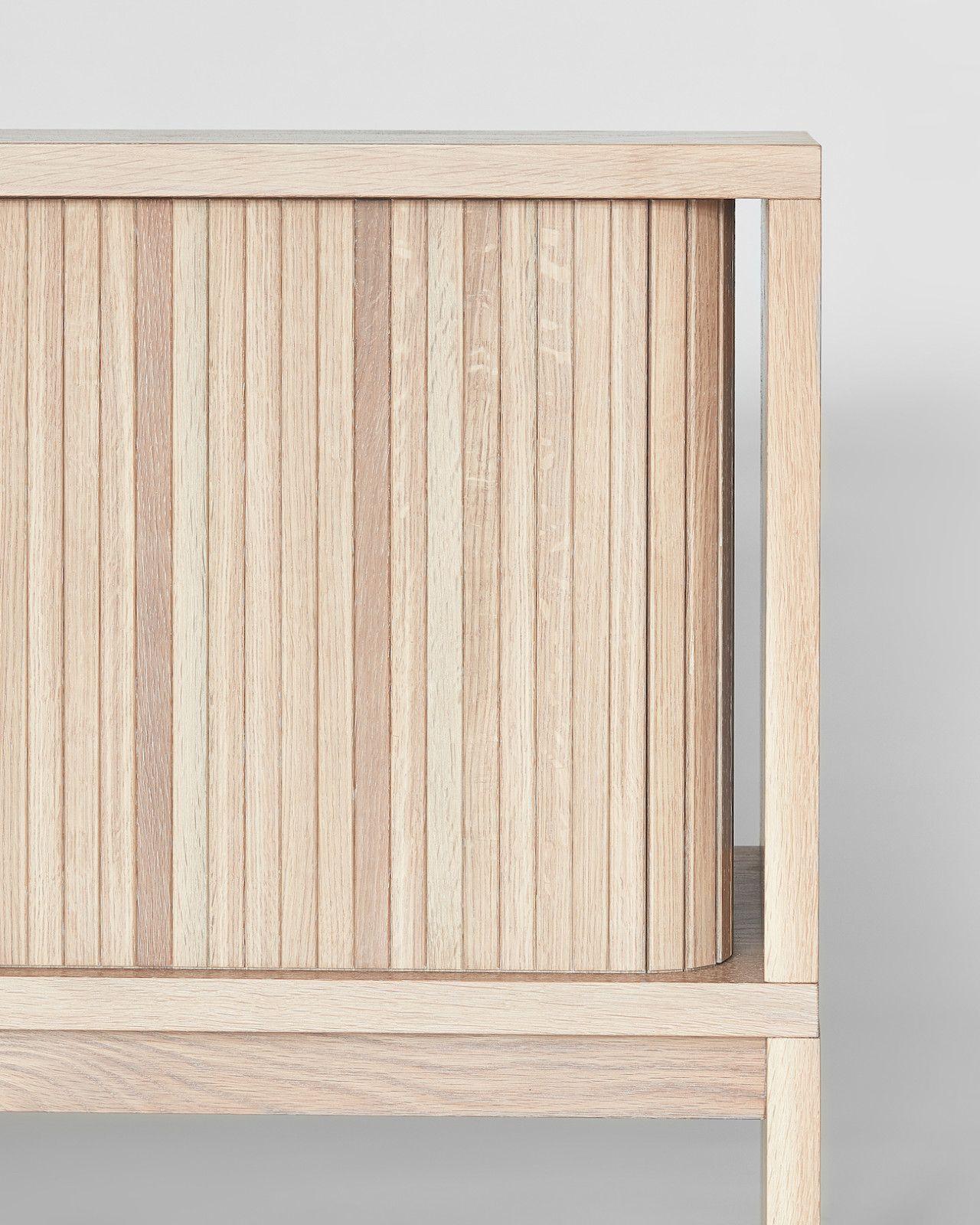 The Minimalist Mjolk Tambour Cabinet by Thom Fougere - Design Milk