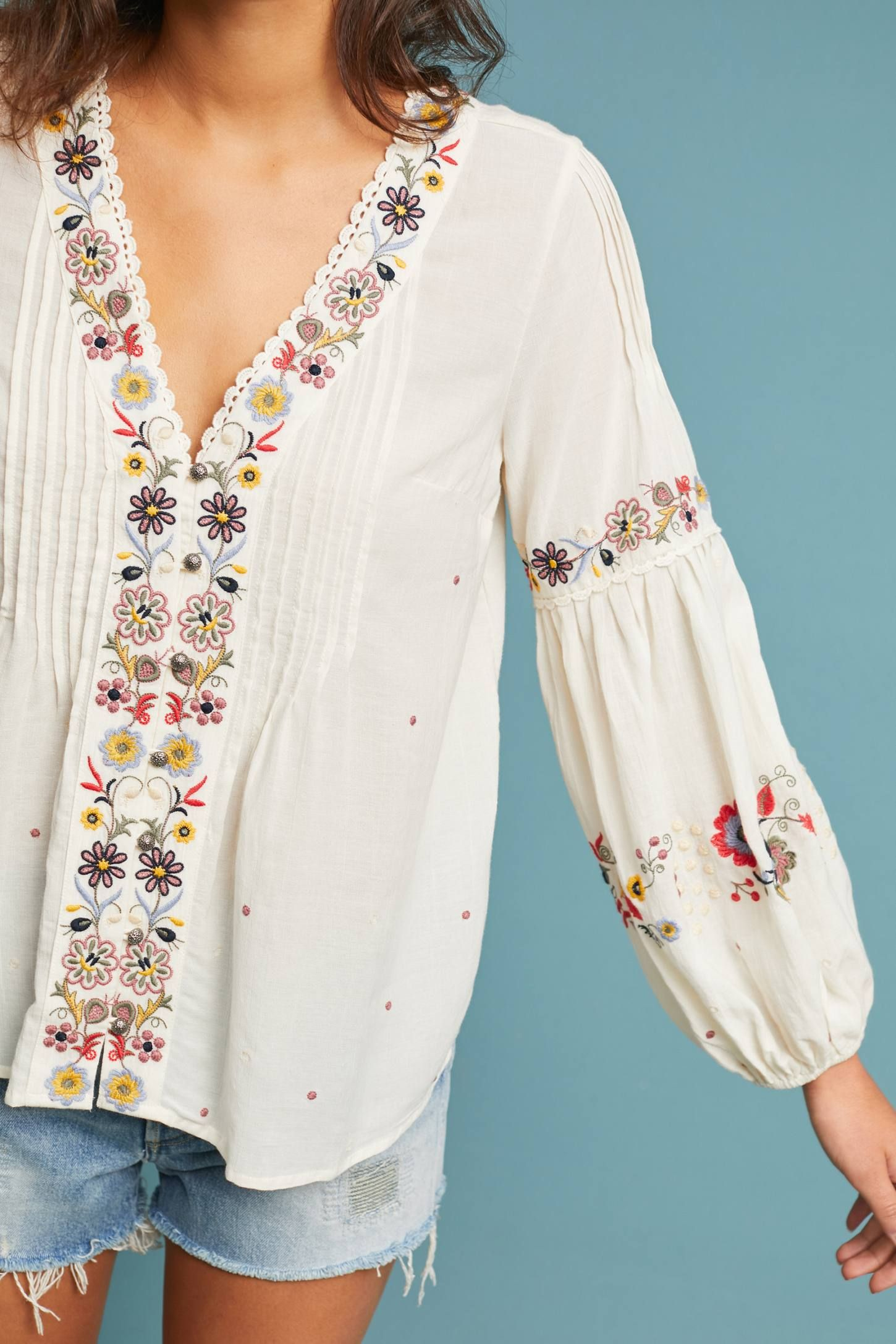 7370d10a262db Carthage Embroidered Peasant Top in 2019