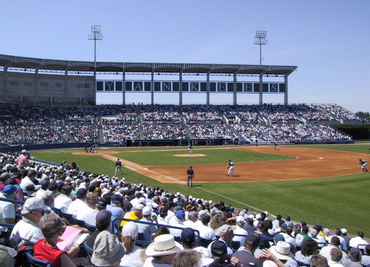 Steinbrenner Field Home To The Ny Yankees Spring Training And The Tampa Yankees High A Affiliate Yankees Spring Training Sports Humor Sports