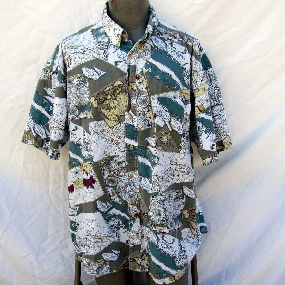 Hawaiian aloha shirt size 2xl atlas world map navigation sailing hawaiian aloha shirt size 2xl atlas world map navigation sailing gumiabroncs Image collections