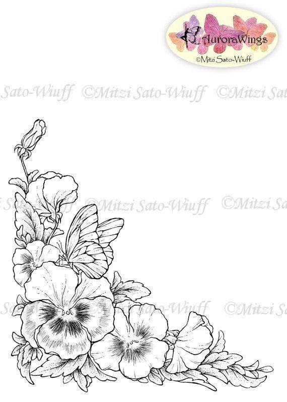 Tattoo Flower Drawing Pansies Flower Outline