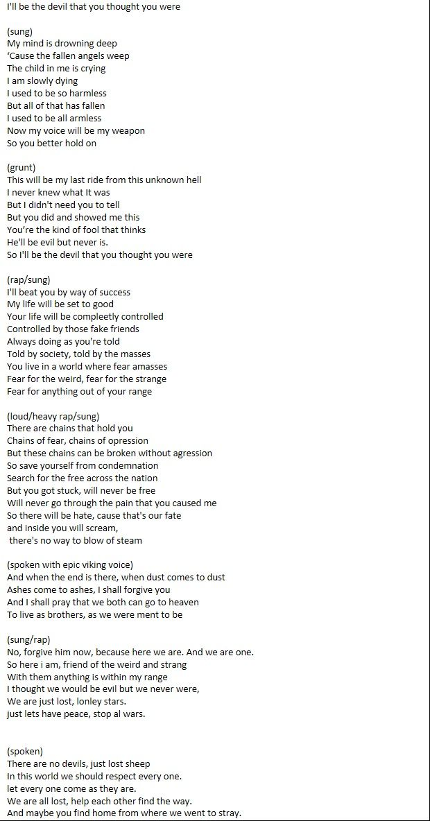 Since You Awesome People Seemed To Like My Last Poem Song Here Is Another One Of Mine Its A Bit Longer And Spelling Grammar Needs Be Checked But