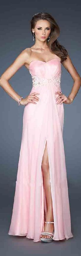 Cute Pink Sleeveless Long Strapless Chiffon Evening Dresses Sale motodresses32541sobgv #longdress #promdress