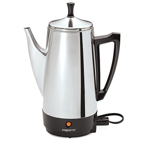 Presto 02811 12-Cup Stainless Steel Coffee Maker - http://coffeecenter.org/presto-02811-12-cup-stainless-steel-coffee-maker/
