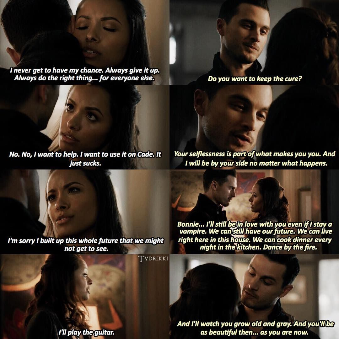 Tvd 8x11 You Made A Choice To Be Good Bonnie And Enzo