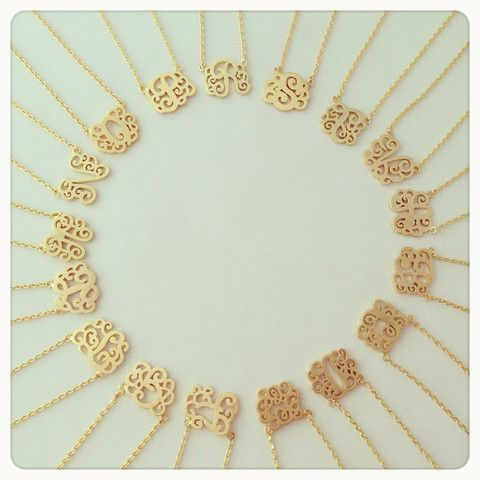 How cute are these little monogram necklaces! Have tonhave one