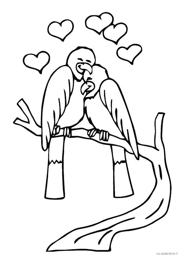 Les tourtereaux se calinent l'un à l'autre pour le 14 février