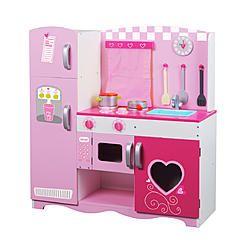 Wonderful Classic Toy Wooden Pink Kitchen