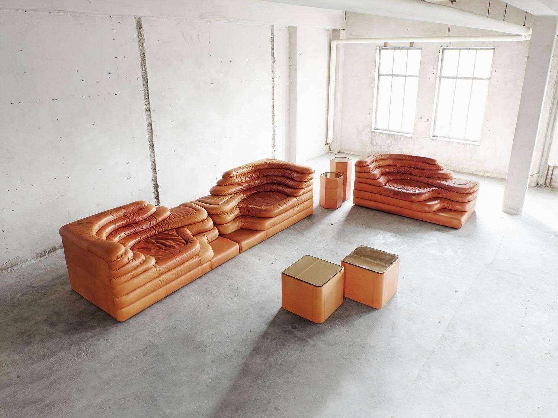 De Sede Terrazza Landscape Elements In Orange Leather By Ubald