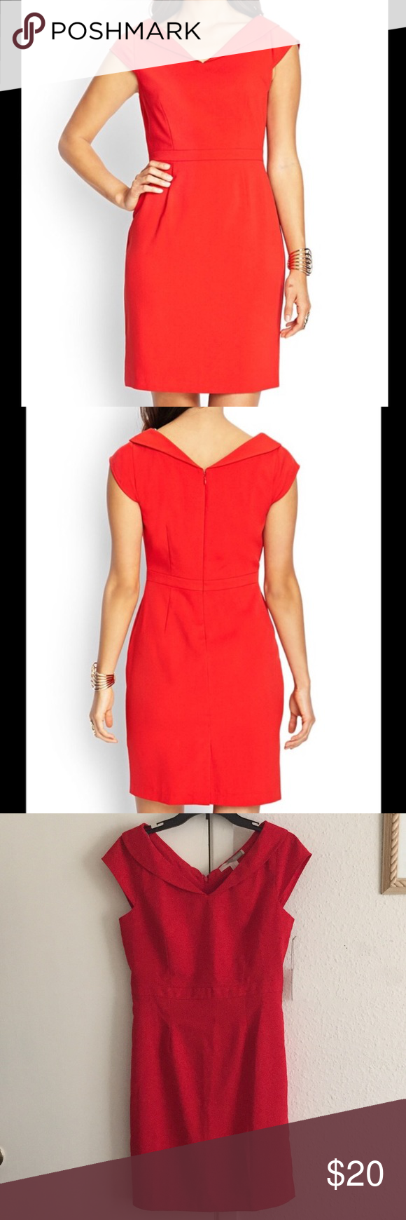 Red cap sleeve sheath mini dress medium new with tag brand forever