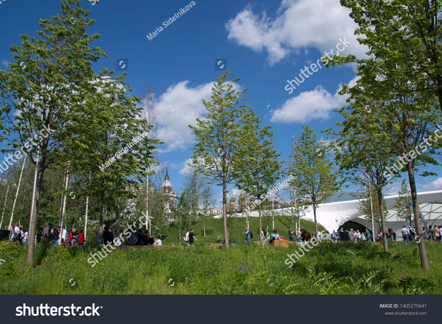 Zaryadye U002f Zariadye Park Moscow Russia May 19th 2019 View To Beautiful Nature Of Zaryadye Park In Moscow City Center Sit With Images Park Beautiful Nature Nature