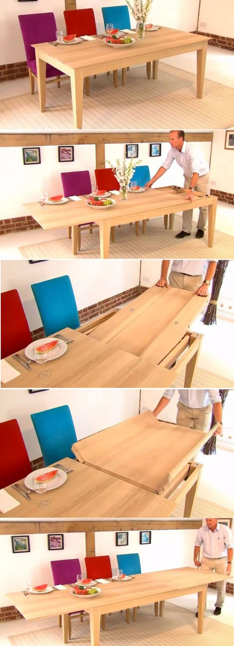 30 tavoli allungabili moderni dal design particolare for Tavoli legno moderni allungabili