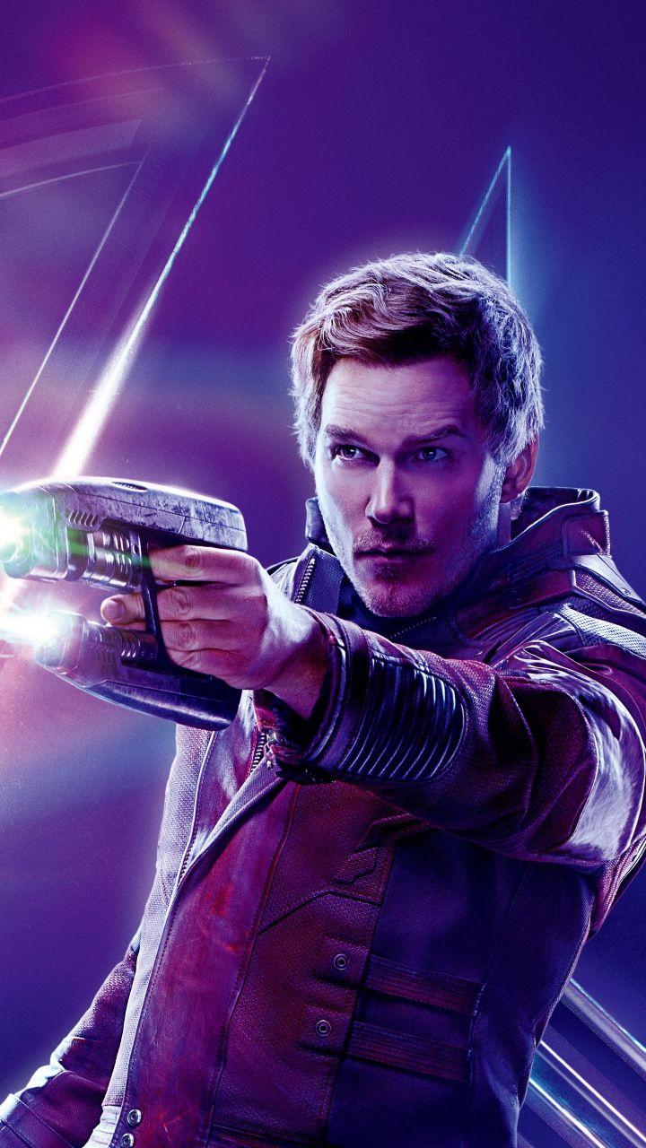 Avengers: infinity war, chris pratt, peter quill, Star-Lord, 2018 movie, 720x1280 wallpaper