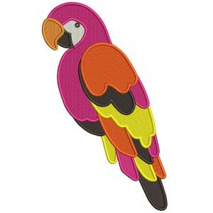 Big Parrot Filled Machine Embroidery Design Digitized Pattern
