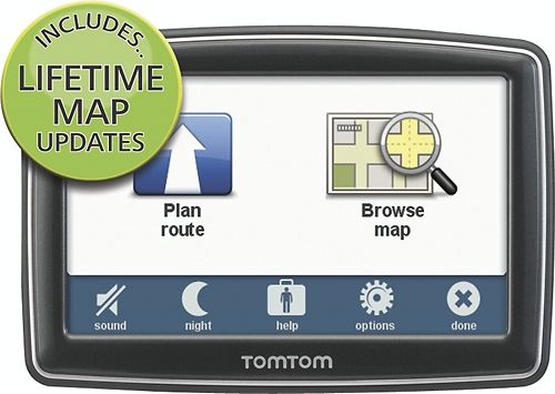 TomTom XL 350M 4.3in GPS with Lifetime Map Updates from CowBoom $59.99