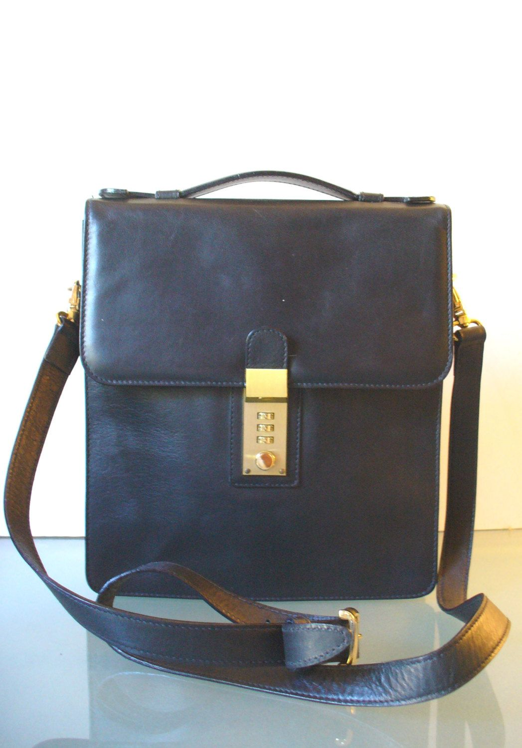 Michelangelo Black Messenger Bag Made In Italy By Eurotraaly On Etsy Vintage Italian Pen Holders