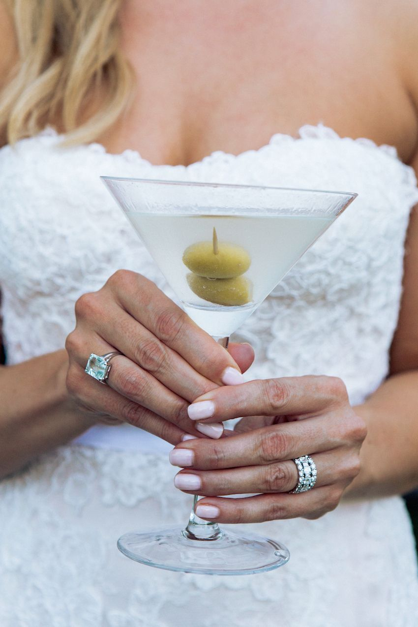 The Bride S Elegant Wedding Day Jewelry Included A Diamond Band And An Emerald