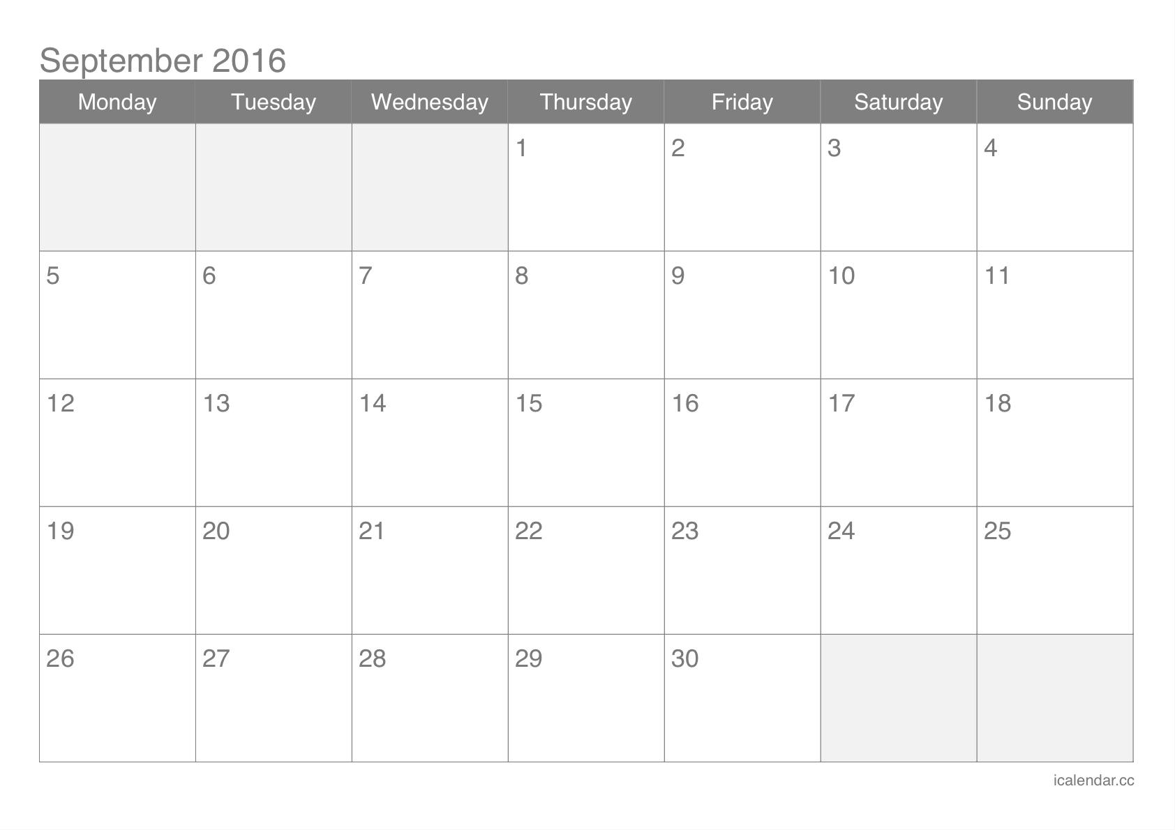 September Calendar Excel  September  Calendar