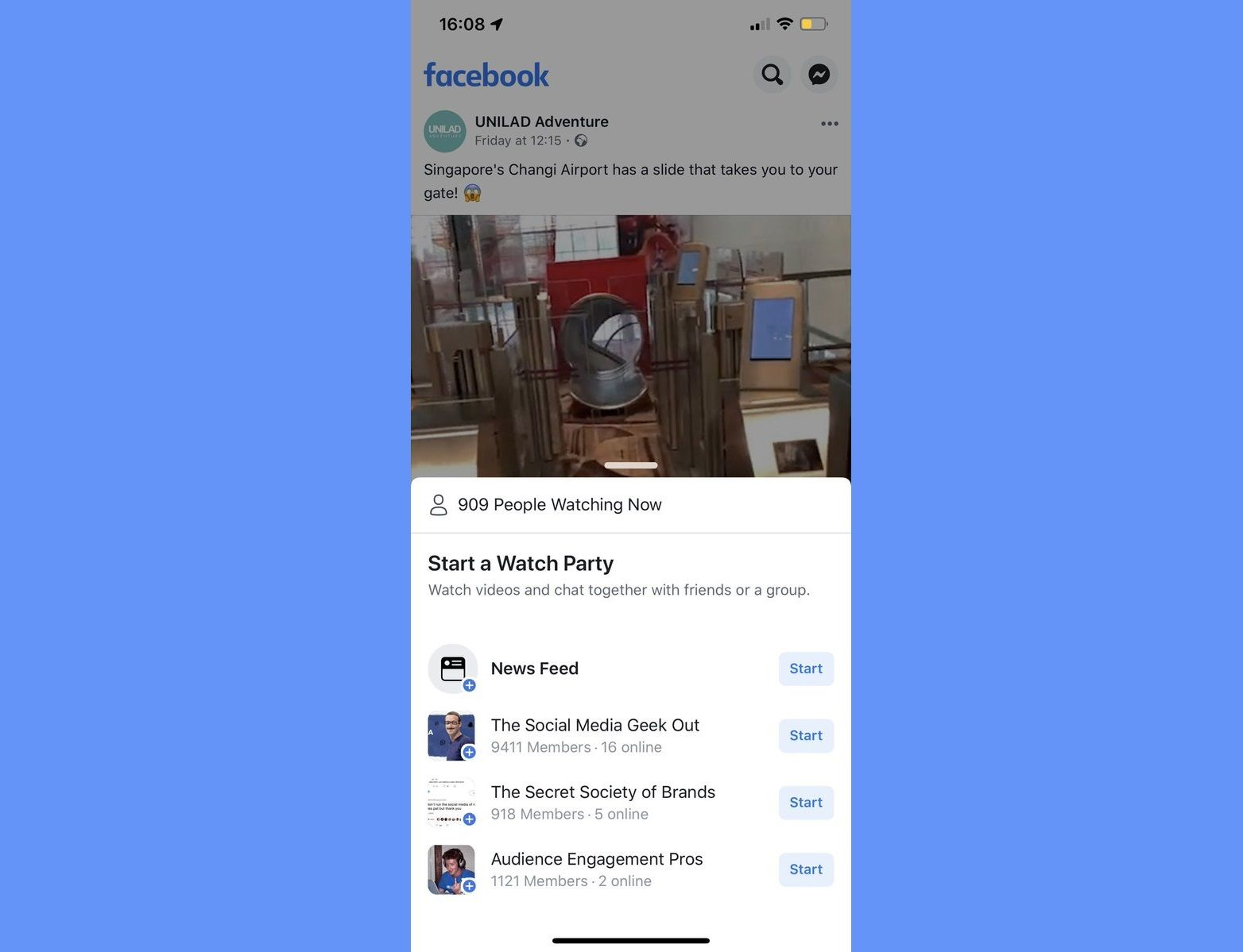 Facebook Is Using News Feed Videos To Promote Watch Parties Social Media Watch Party Network Marketing