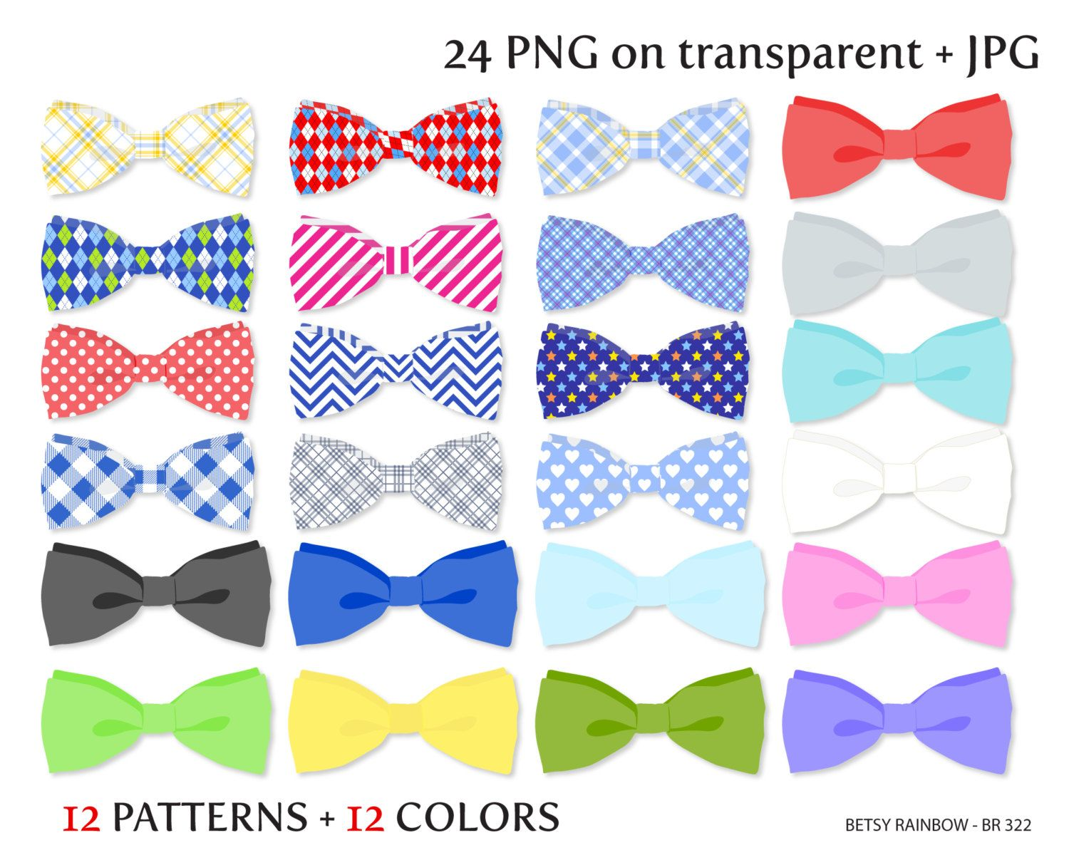 Bow tie clipart, PNG and JPG, neck bow tie clipart, neck ...