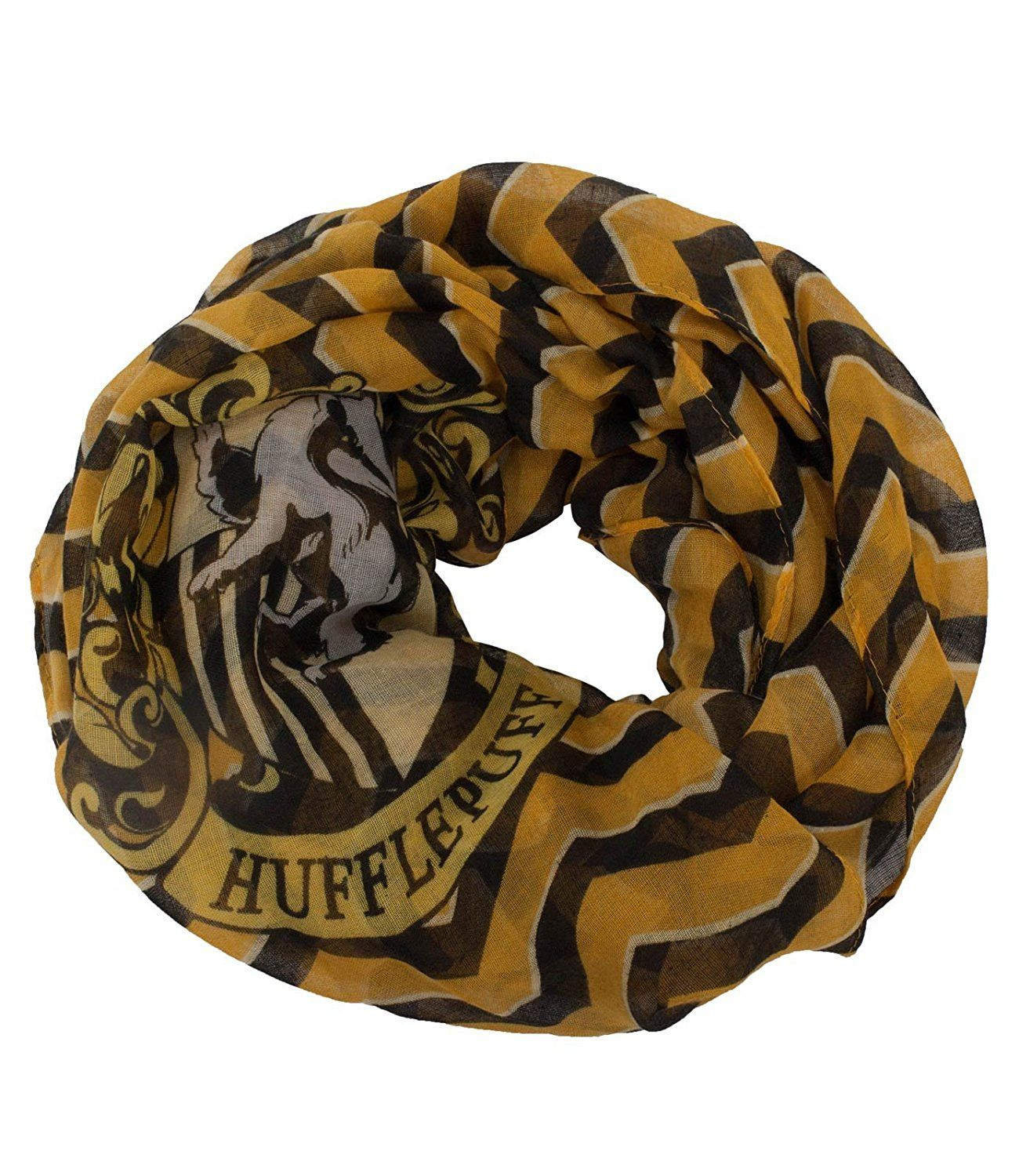 0c8402bd9fd4a Amazon.com  elope Harry Potter Hufflepuff Infinity Scarf  Clothing ...