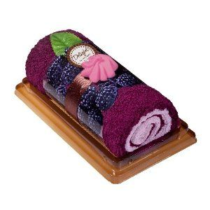 Heritage Lace 7-Inch by 3-Inch by 4-Inch Inspirational Petits Fours Rollcake, Blackberry