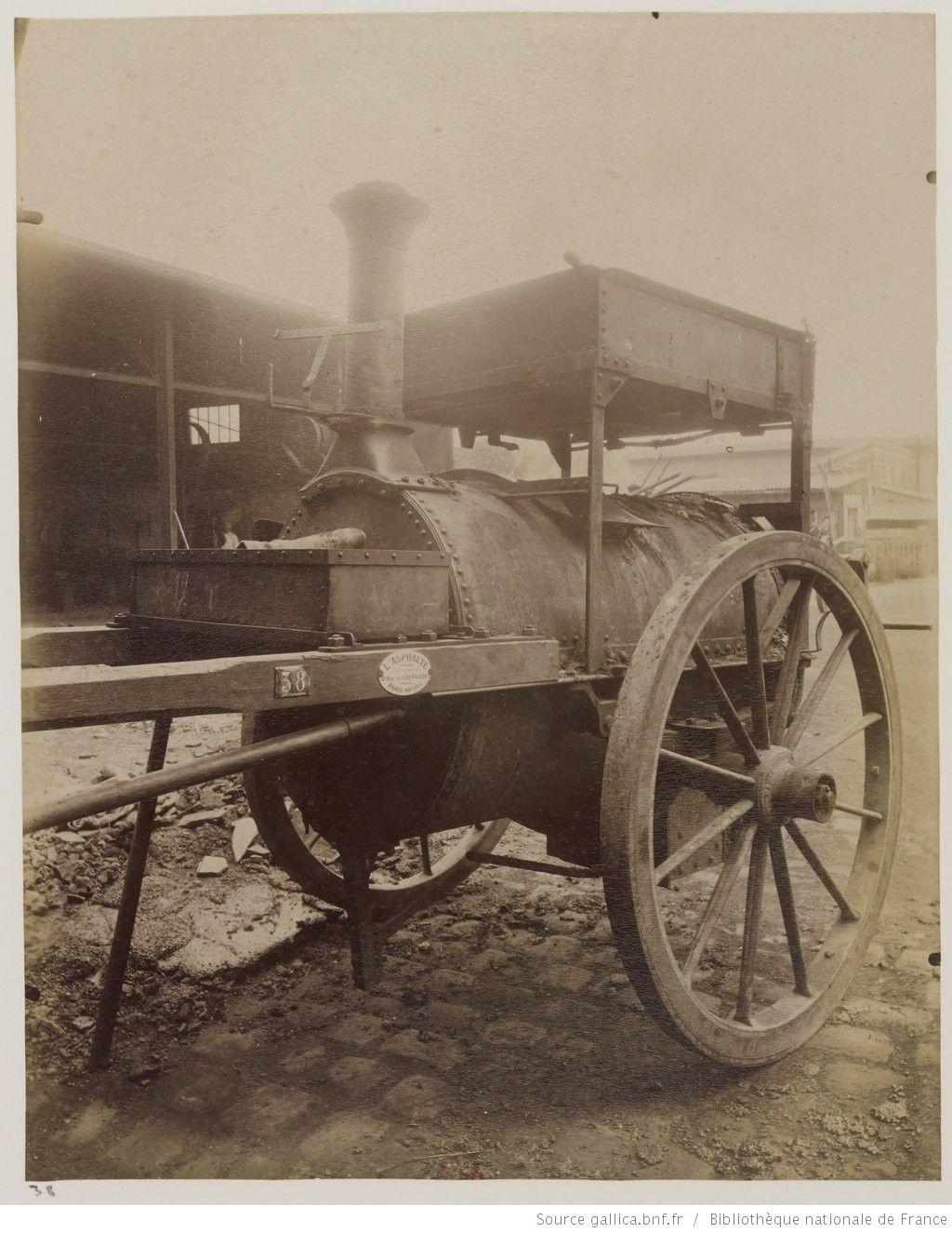 Voiture asphalte : 1910 : [photographie] / [Atget]