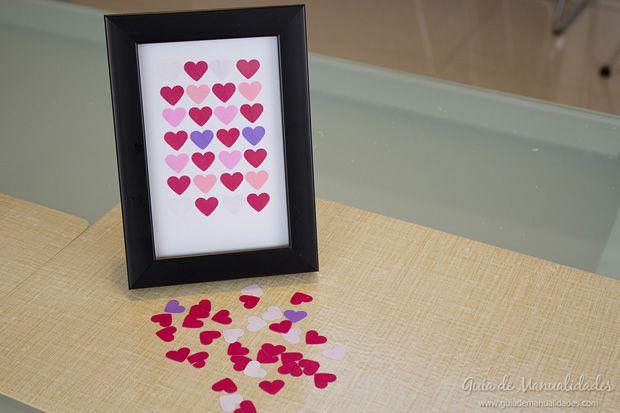 Fácil cuadro de corazones Craft