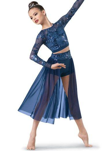 c655339eb8fc Weissman® | Crop Top and Short + Midi Back Skirt | dancer things ...