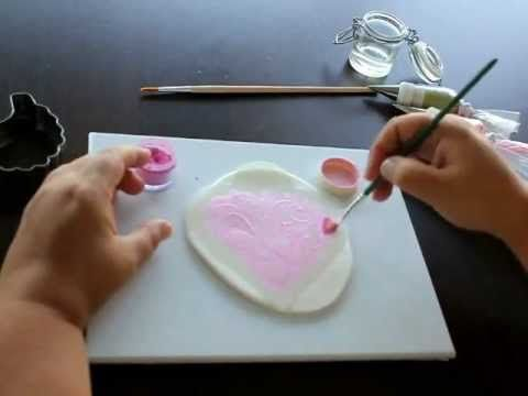 Galleta con Stencil - YouTube