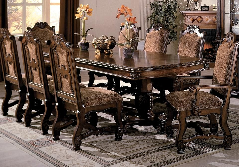 Formal Dining Room Table, 11 Piece Dining Room Set