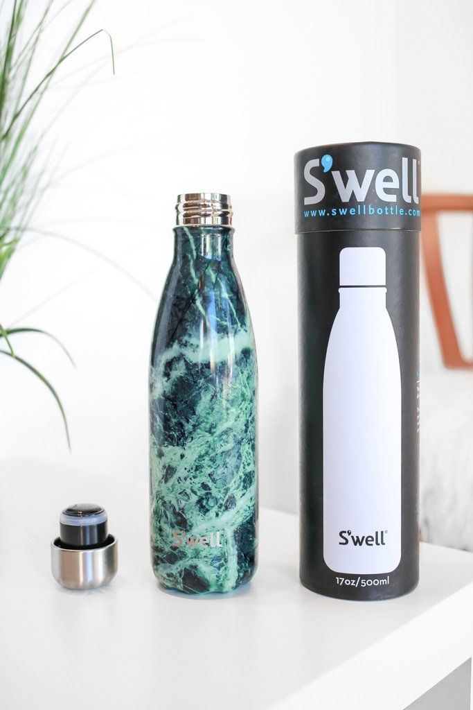 Baltic Green Marble 17 Oz Swell Water Bottle Swell Water Bottle Water Bottle Bottle