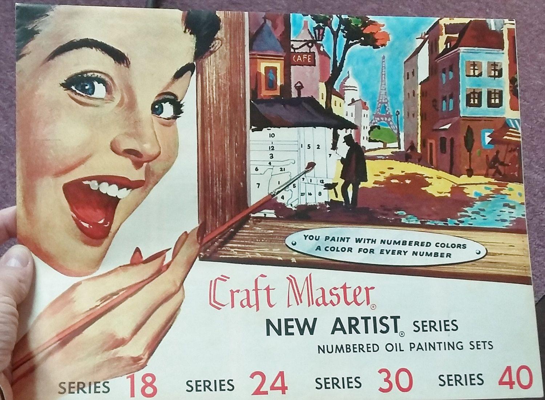 Craft master paint by number kits - Vintage Paint By Number Kit Craft Master Ballerina Huge 3 Pc Original Box Ephemera Catalog Paint Brushes 60 S Mid Century Art Craft