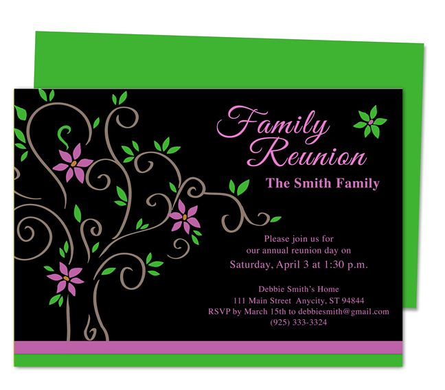 Printable DIY Roots Family Reunion Party Invitation Templates - pages invitation templates free