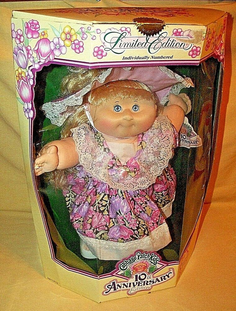 Cabbage Patch Kids Doll Zora Mae 10th Anniv 1992 Hasbro 31960 Soft Face Body Hasbro Dollswithcloth Cabbage Patch Kids Cabbage Patch Kids Dolls Cabbage Patch